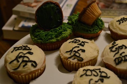 Elvish writing Lord of the Rings cupcakes