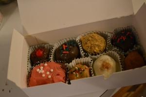 box of homemade truffles