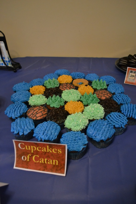 settlers of catan cupcake board