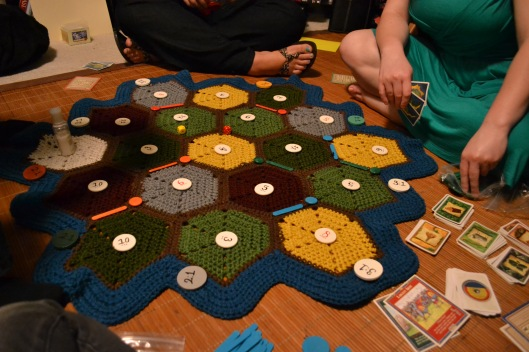 settlers of catan crocheted board