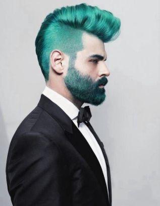 turquoise mohawk wedding