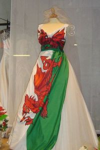 welsh flag dragon wedding dress